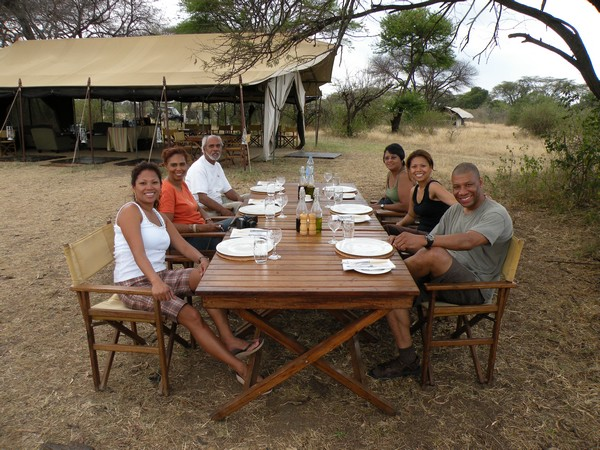 Dinner Table in CC Africa Under Canvas - Serengeti
