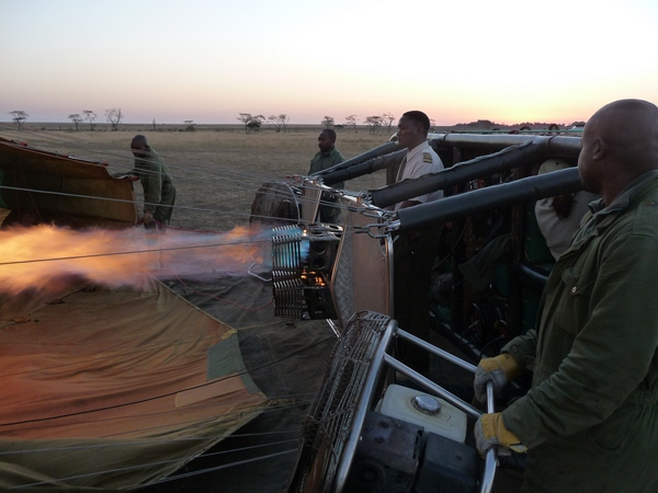 Firing Balloon on Serengeti