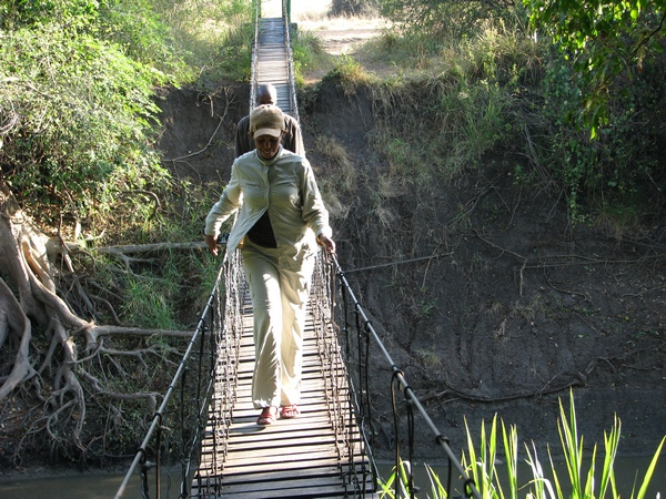 Kay on Swinging Bridge