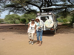 Marsha and Kay on safari in Tanzania 2008