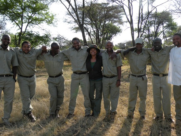 Rowena and CC Africa team