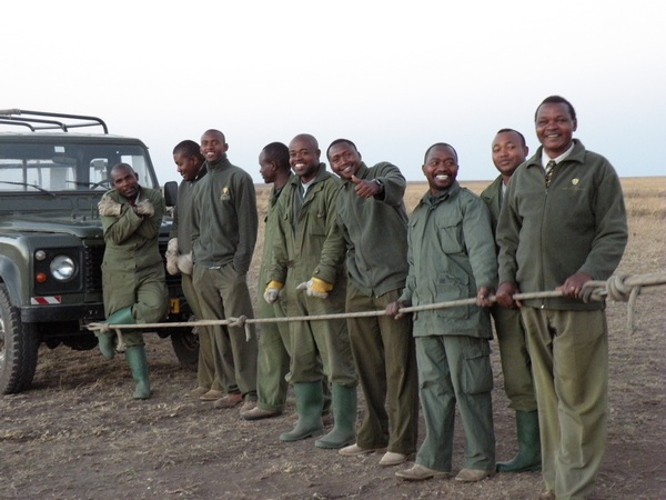 Serengeti Balloon team