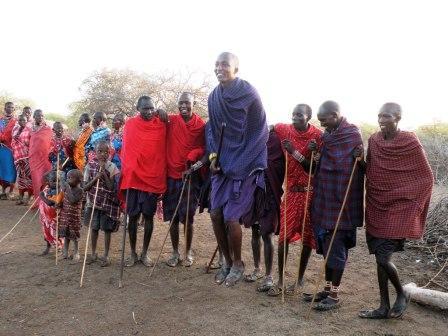 Maasai Celebration of Kays Birthday