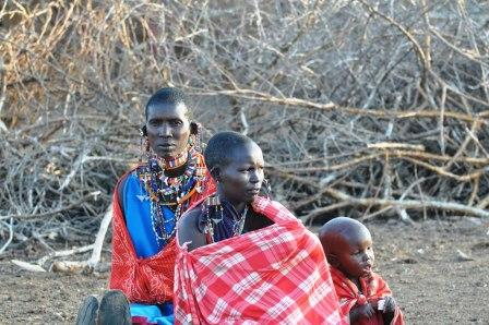 Maasai Tribal women and child