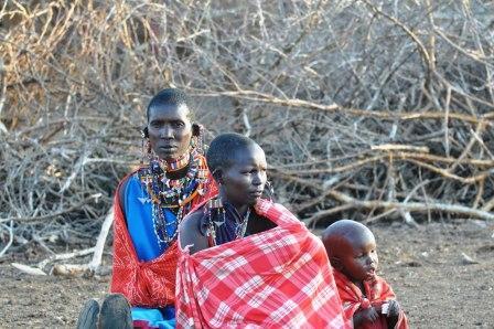 Maasai Tribal women and child