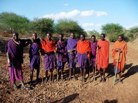 The Maasai own these grounds - in Kenya