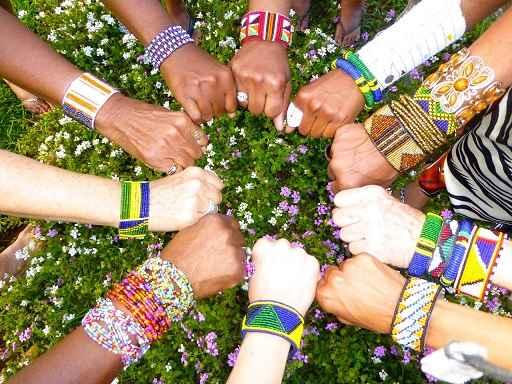 hands across the Serengeti